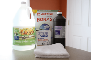 Vinegar or Borax