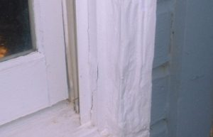 termite damage bay window